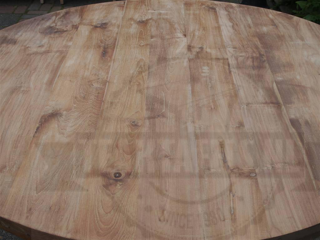 Teak tafel rond 140cm u2013 teaktafels.nl